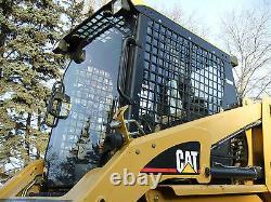 1/2 CAT Door ONLY! Caterpillar Lexan Polycarbonate Mulcher Mower skid steer