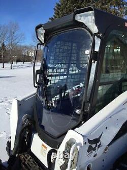1/2 LEXAN Bobcat T650, T750, S850 Saftey Mulcher Mower Skid steer Door Poly