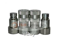 2 Sets of 3/4 Heavy Duty Bobcat/Skid Steer Style Quick Couplers Flat Face