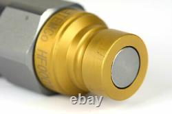 2x 1/2 NPT Pair Hydraulic Flat Face Quick Coupler Skid Steer Bobcat ISO 16028