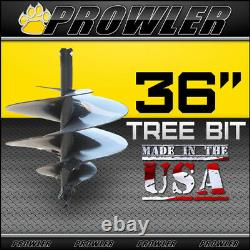 36 Tree Auger Bit with Round Collar For Skid Steer Loaders 4' Length 36 Inch