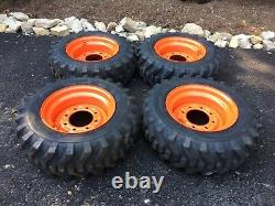 4 NEW 10-16.5 Camso SKS332 Skid Steer Tires/wheels/rims for Bobcat 10 PLY