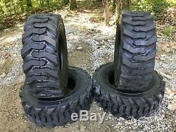 4 NEW 12-16.5 Skid Steer Tires Turbo 14 ply 12X16.5 -For Case, Caterpillar