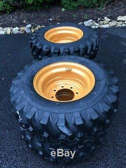 4 NEW 12-16.5 Skid Steer Tires/wheels/Rims for Case 1845C & others 12X16.5