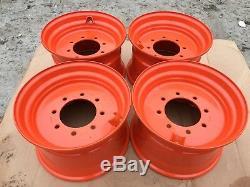 4 NEW 16.5X9.75X8 Skid Steer Wheel/Rim for Bobcat fits 12-16.5 843,853,863,873