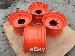 4 NEW 16.5X9.75X8 Skid Steer Wheel/Rim for Bobcat fits 12-16.5-S220, S250, S300