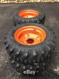 4 NEW Camso 10-16.5 Skid Steer Tires/wheels/rims -fits Bobcat & 642,643-10X16.5