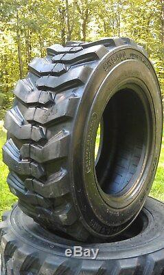 4 NEW Loadmax 12-16.5 Skid Steer Tires 12 Ply For Bobcat & more 12X16.5