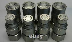 4 sets 1/2 Bobcat Skid-Steer Flat Face Quick Disconnect Coupler FEM-501 FEM-502