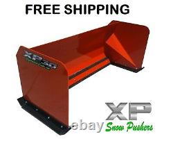 6' XP30 Snow pusher box Kubota Orange skid steer Bobcat FREE SHIPPING-RTR