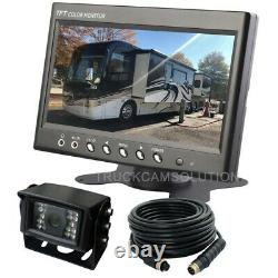 7 Rear View Backup Reverse Camera System For Skid Steer, Rv, Tractor, Trucks