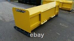 7' XP30 Snow pusher boxes skid steer backhoe loader Bobcat FREE SHIPPING