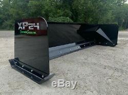 8' XP24 snow pusher box Black bobcat skid steer loader FREE SHIPPING