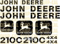 Affordable Decal Sets for your John Deere Dozers, Loaders, Skid Steer, Mini Ex