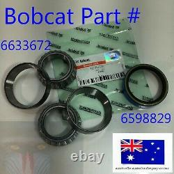 Axle Bearing Seal Kit for Bobcat 6633672 6598829 440B 443 450 453 463 463C S70