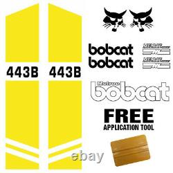 Bobcat 443B DECALS Stickers Skid Steer loader PLUS DECAL APPLICATOR MADE IN USA