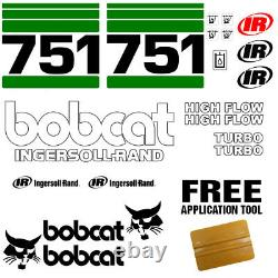 Bobcat 751 Skid Steer Set Vinyl Decal Sticker Sign 21 PC SET + FREE APPLICATOR