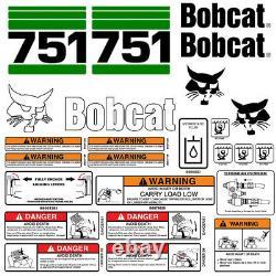 Bobcat 751 Skid Steer Set Vinyl Decal Sticker bob cat USA 25 PC SET