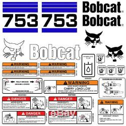 Bobcat 753 v2 Skid Steer Set Vinyl Decal Sticker bob cat USA 25 PC SET