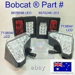 Bobcat Led Headlights & Tail Lights Kit T595 T630 T650 T740 T750 T770 T870