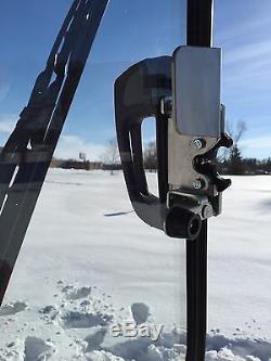 Bobcat M series S510 to S870. LEXAN Forestry Demolition Door Skid steer cab