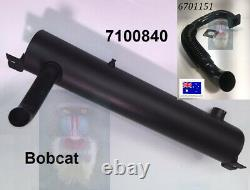 Bobcat Muffler 7100840 Flex Exhaust 6701151 & Gasket S130 S150 S160 S175 S185