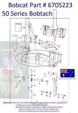 Bobcat Pivot Pin Bush Kit 6732012 6589665 6705223 743 751 753 763 773 7753