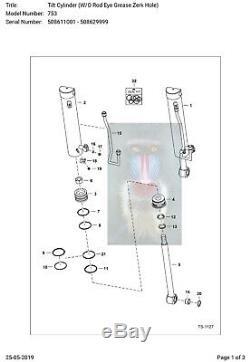 Bobcat Skid Steer 7196894 TILT CYLINDER Seal kit 753 763 7753 773 New