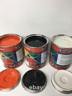 Bobcat Skidsteer White-Cab Black-Engine Cover Orange Enamel Paint 1 Litre Tins