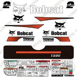 Bobcat T590 Decal Kit Skid Steer (Curved Stripes)