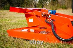 Brush Mower for Skid Steer Loaders & Bobcat machines For Machines with 32-40 GPM
