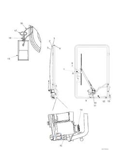 Case New Holland CNH Skid Steer Glass Panel 87727204 NOS