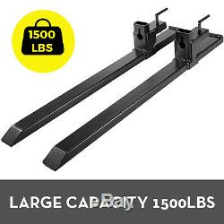 Clamp on Pallet Forks 30 1500lbs capacity Loader Bucket Skidsteer Tractor Chain