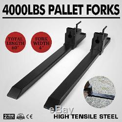 Clamp on Pallet Forks Loader Bucket 4000lbs Capacity 43 Skidsteer Tractor Top