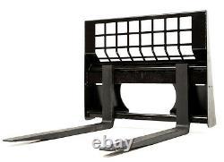Eterra Skid Steer Pallet Forks 4400 lb. Fits All Modern Skid Steer Loaders