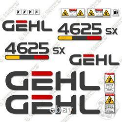 GEHL 4625SX Decal Kit Skid Steer Decals 4625SX (4625) 7 YEAR VINYL
