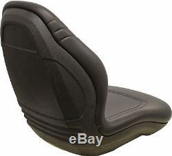 Gehl Skid Steer Black Bucket Seat Fits 3410 4625SX 5640 6635 6640 ETC