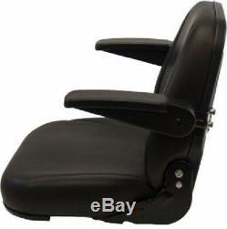 High Back Black Seat For Forklift, Skid Loader, Backhoe, Dozer, Telehandler #ta