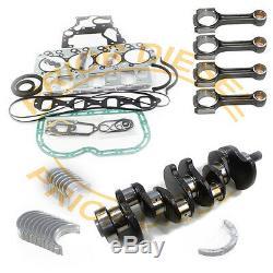 Isuzu 4JB1 Crankshaft+4 Connect Rods+Main&Rod Bearing Set+Engine Gasket kit