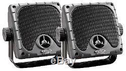Jensen Weatherproof ATV Motorcycle Skidsteer JHD910BT Bluetooth Radio + Speakers
