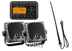Jensen Weatherproof ATV Skidsteer JHD910BT Bluetooth Radio, Speakers, Antenna