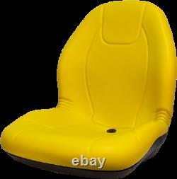 John Deere High Back Gator Lawn Mower Skid Steer Seat Yellow