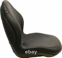 John Deere Skid Steer Black Bucket Seat Fits 240 250 315 328D 332 7775 ETC