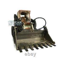 LESU 1/14 Metal Hydraulic Aoue-LT5 RC Tracked Skid-Steer Loader DIY Model Lights
