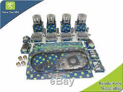 New Aftermarket Bobcat SKID-STEER S175 Kubota V2003-T-E2B Overhaul Kit STD