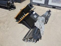 New Agrotk Ssbx42 Hydraulic Post Driver Hammer Universal Skid Steer