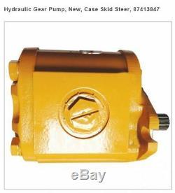 New, Case Skid Steer, 87413847 Hydraulic Gear Pump Fits 1840, 1845C