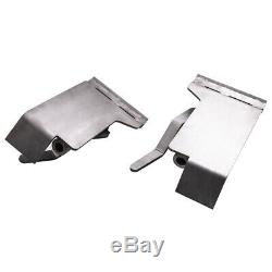 Pair Skid Steer Quick Tach Brackets Conversion Adapter For Latch Box Weld On QTK