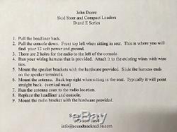 Radio kit for John Deere skid steer and compact track loader