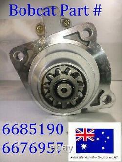 STARTER MOTOR for Bobcat 6685190 6676957 751 753 763 773 A300 A770 S130 S150